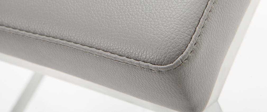 Sgabello design 66cm grigio - gruppo di 2 EPSILON
