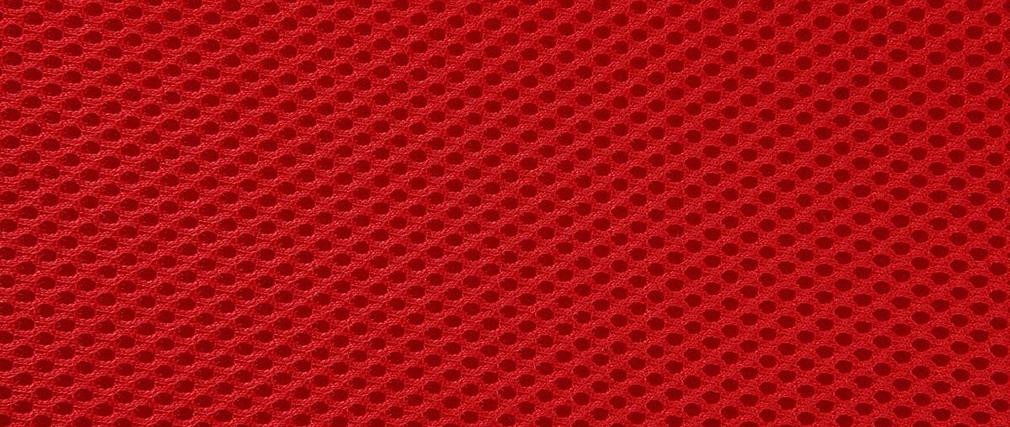Sgabello design a rotelle rosso THEMIS