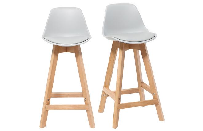 Sgabello design grigio chiaro e legno cm gruppo di due mini