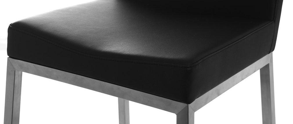 Sgabello design nero (gruppo di 2) EPSILON