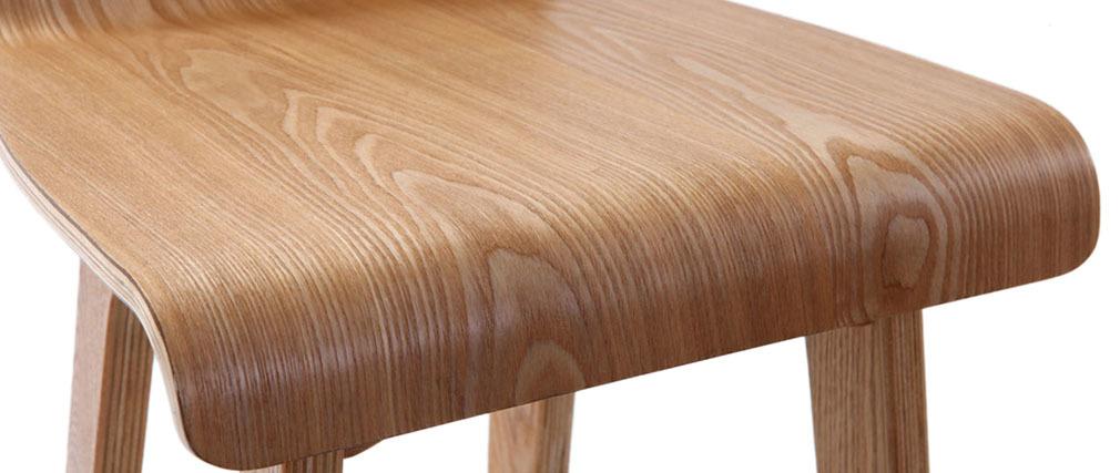 Sgabello / sedia da bar design legno naturale scandinavo 75 cm BALTIK