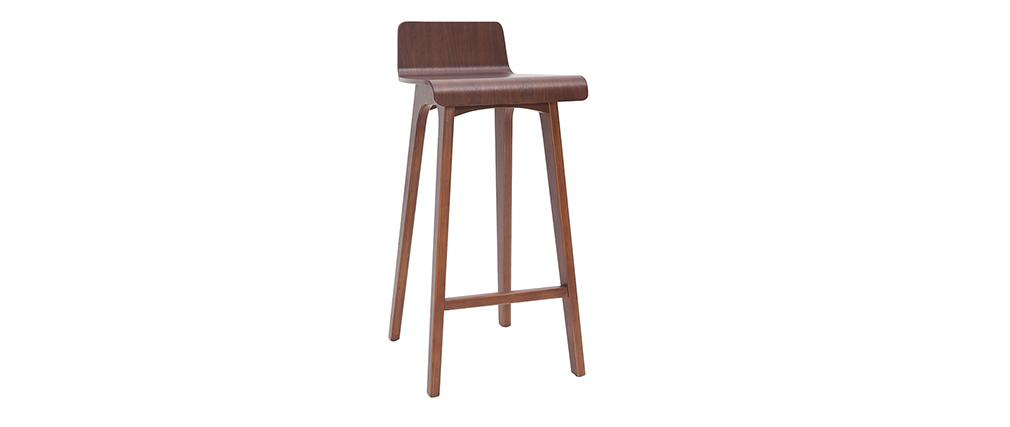 Sgabello / sedia da bar legno scuro 75 cm BALTIK