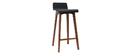 Sgabello / sedia da bar nera 75 cm BALTIK