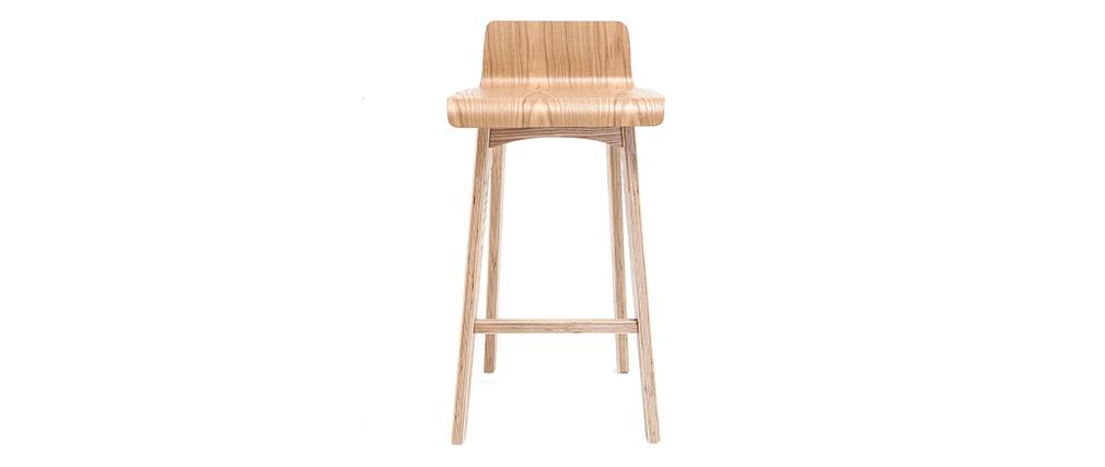 Sgabello / Sedia da bar scandinavo 65cm frassino BALTIK