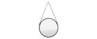 Specchio rotondo design in metallo Nero 40 cm KARL