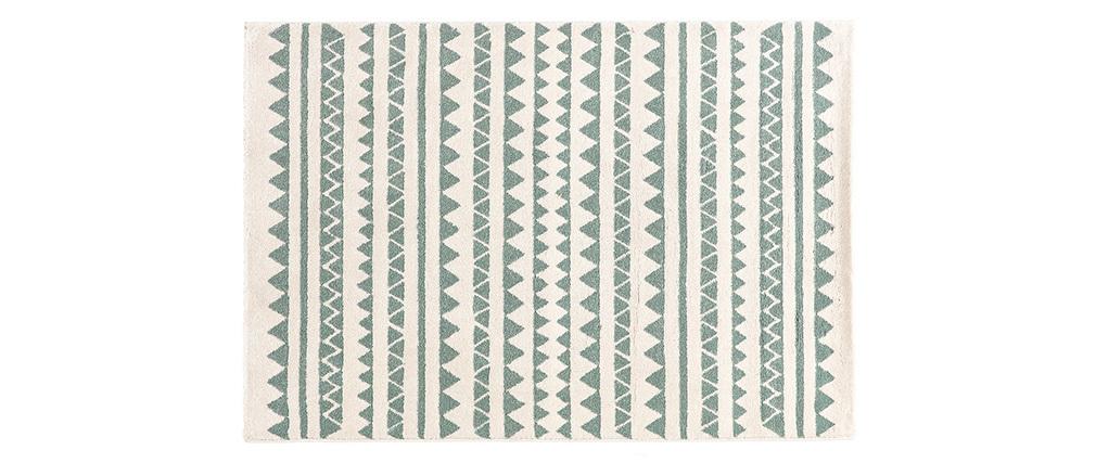 Tappeto a motivi grafici blu chiaro 120 x 170 cm TAYA