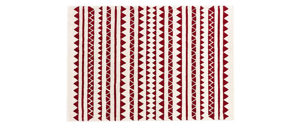 Tappeto a motivi grafici rosso 120 x 170 cm TAYA