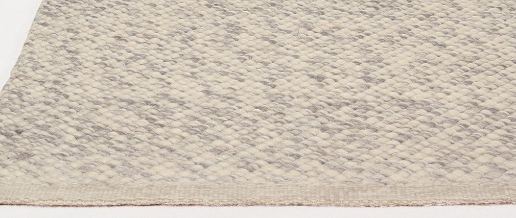 Tappeto avorio in lana 140 x 200 cm WOOL