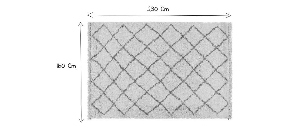 Tappeto berbero écru 160 x 230 cm ZELIA