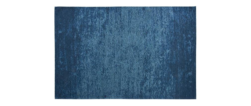 Tappeto blu acrilico - cotone 155x230 STONE
