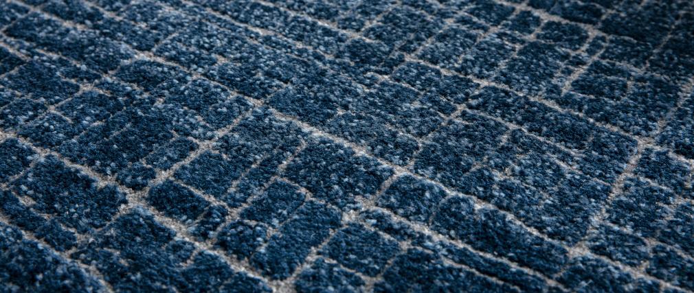 Tappeto blu con motivo grafico 160 x 230 cm SAPHIR