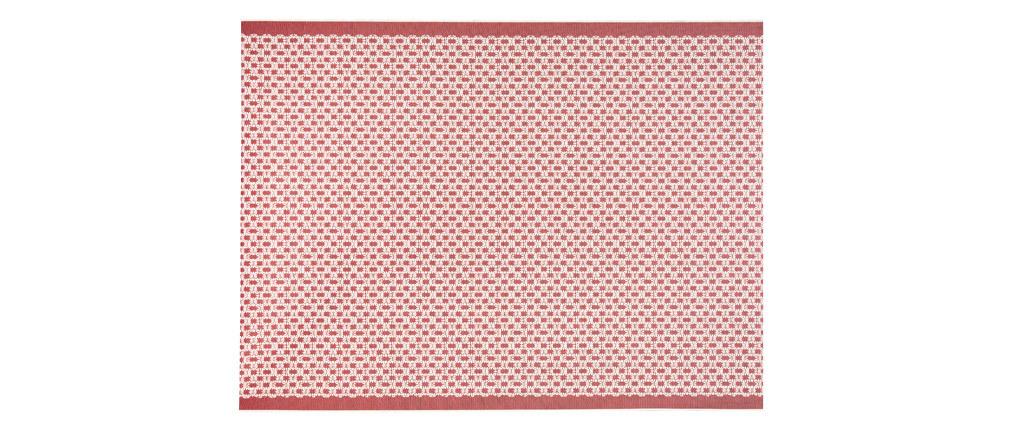 Tappeto color corallo misura 120x170 cm modello OASIS