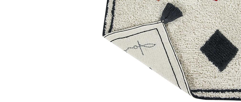 Tappeto con motivi in cotone 140x200cm LIMA