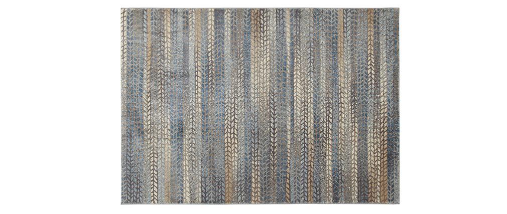Tappeto con motivo grafico blu, marrone e grigio 160 x 230 cm EPIS