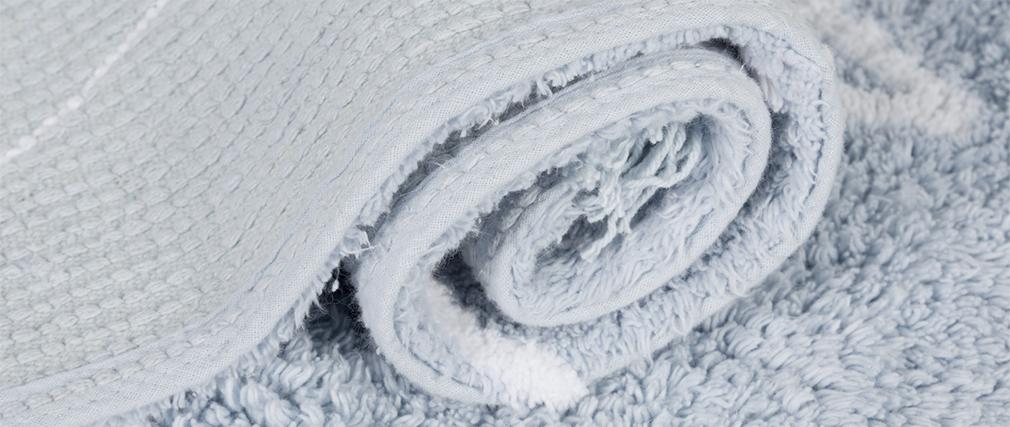 Tappeto cotone 120x160cm blu ALISHIA