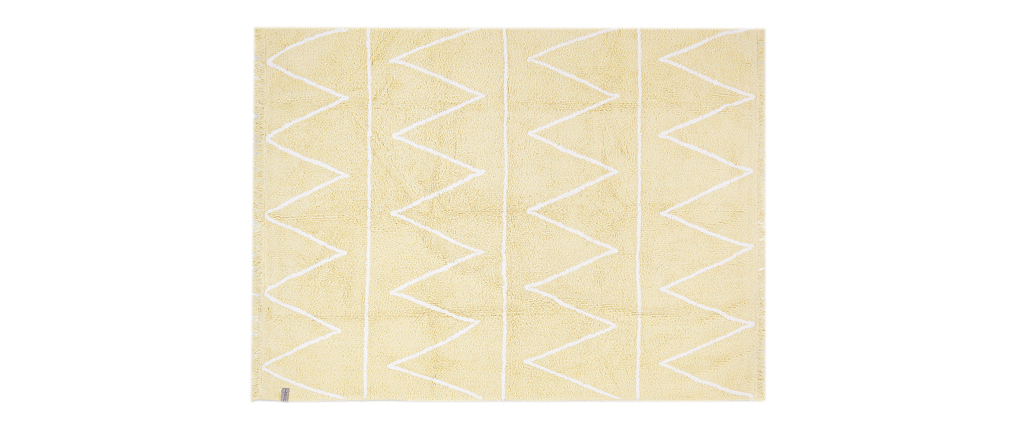 Tappeto cotone 120x160cm giallo ALISHIA