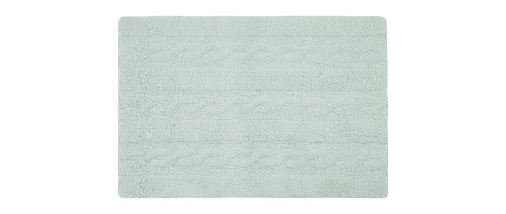 Tappeto cotone 120x160cm menta INES