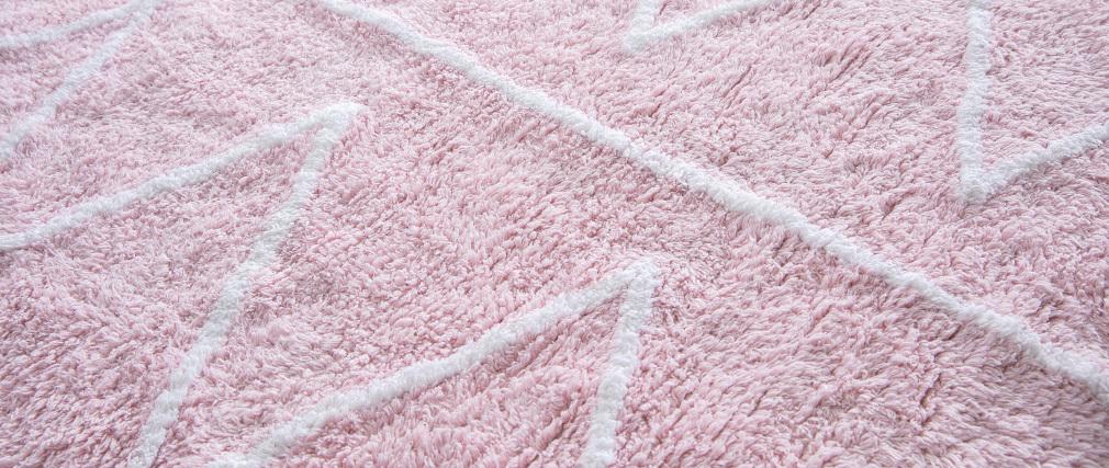 Tappeto cotone 120x160cm rosa ALISHIA