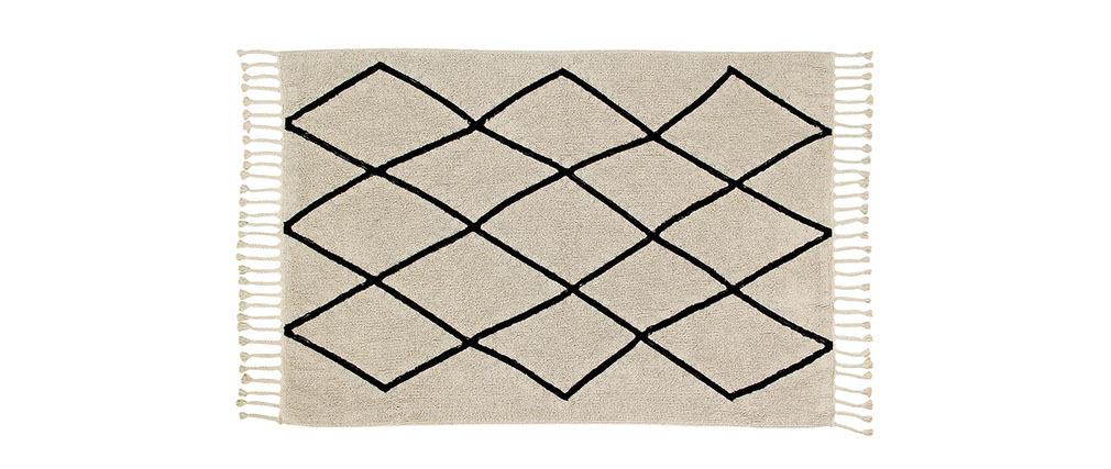 Tappeto cotone 140x200 beige TOUAREG