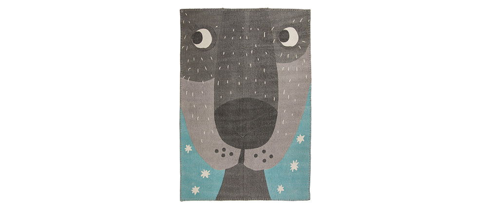 Tappeto da bambino in cotone con stampa animale 100x140 cm ANNIBAL