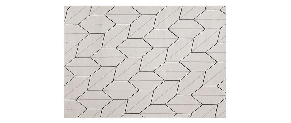 Tappeto design beige naturale 160 x 230 cm CORN