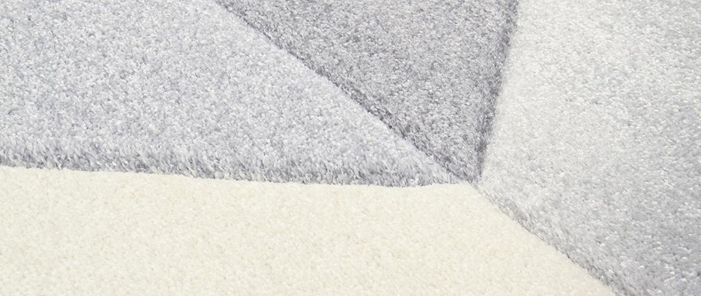 Tappeto design grigio 160 x 230 cm NAVETTE