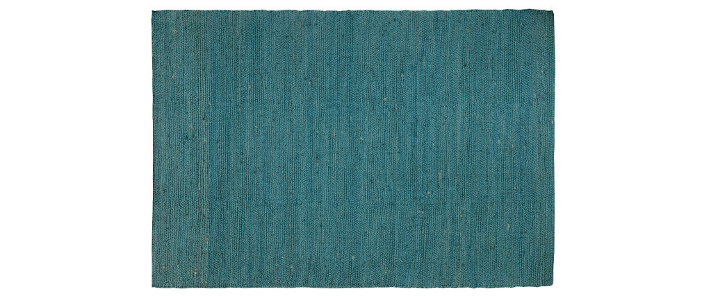 Tappeto di colore blu anatra in iuta misura 170x240 cm modello GUNNY