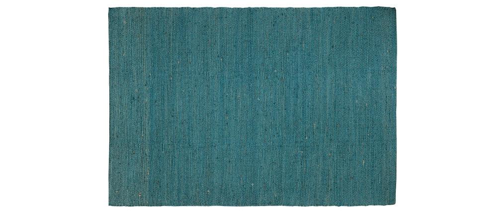 Tappeto di colore blu anatra in iuta misura 200x300 cm GUNNY
