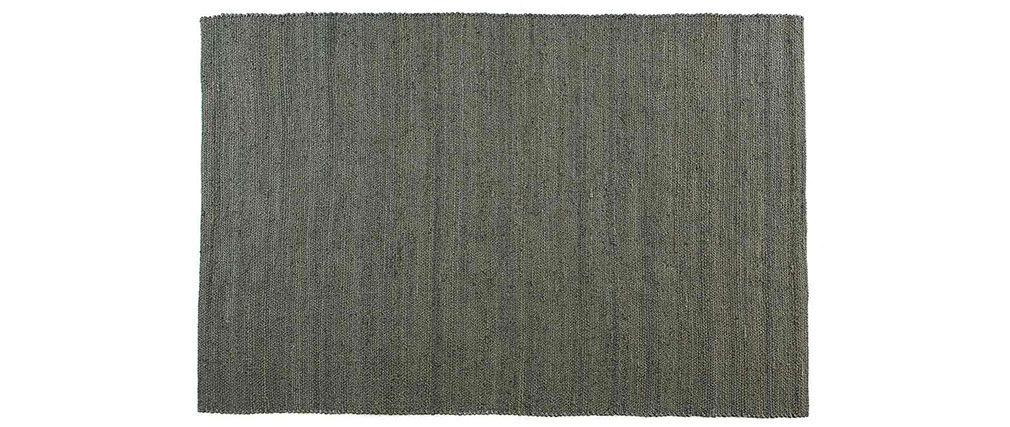 Tappeto di colore grigio in iuta misura 170x240 cm modello GUNNY