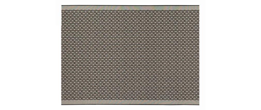 Tappeto di colore grigio misura 120x170 cm modello OASIS