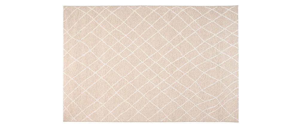 Tappeto di colore naturale in polipropilene misura 160x230 cm modello FLOW