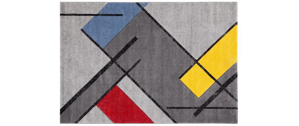 Tappeto di design multicolore 160 x 230 cm MATISS