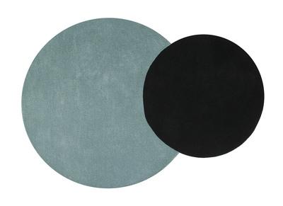 Tappeto doppio, colore: Blu e Nero, dimensioni: 140x200cm, modello: ECLIPSE
