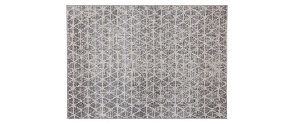 Tappeto grafico beige 150 x 200 cm FLAKE