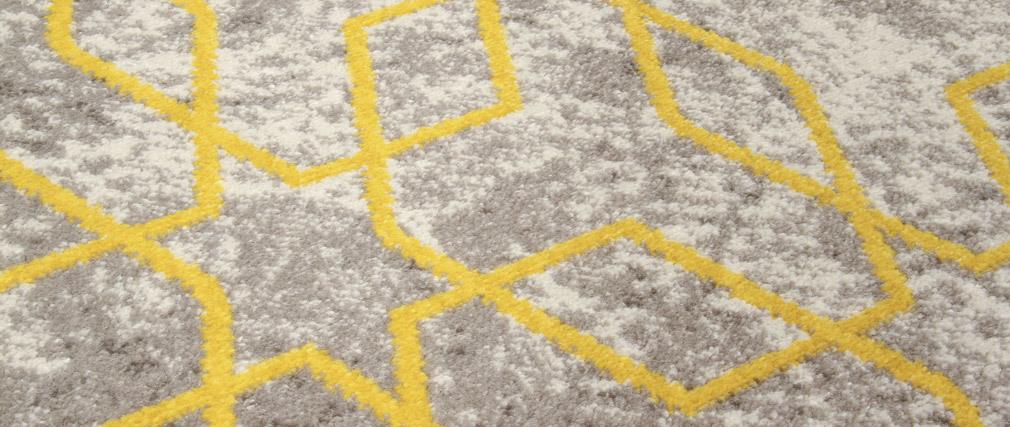 Tappeto greggio con motivi giallo 160 x 230 cm SOHO