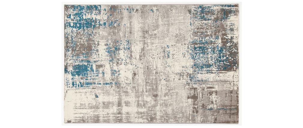 Tappeto greggio e blu 160 x 230 cm CAPS