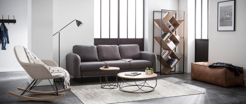 Tappeto grigio acrilico - cotone 155x230 STONE