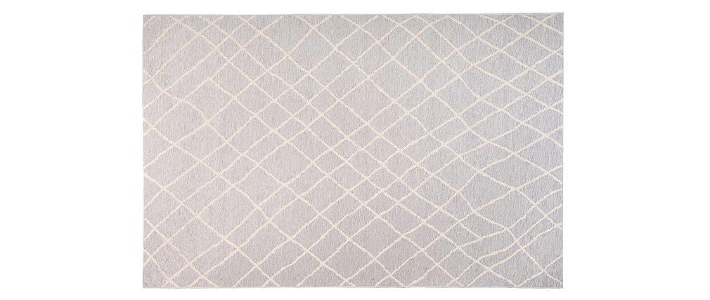 Tappeto grigio chiaro in polipropilene misura 160x230 cm modello FLOW