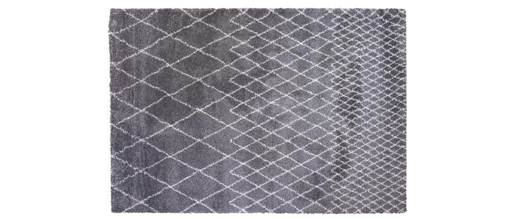 Tappeto grigio chiaro polipropilene 160x230 LATTICE