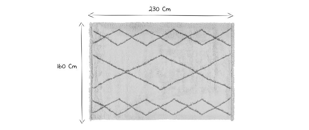 Tappeto in stile berbero grigio 160 x 230 cm TRIBU