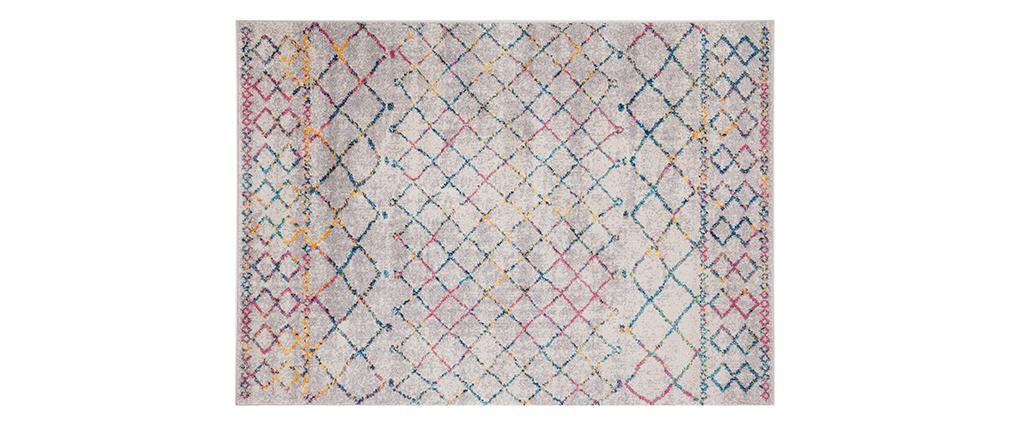 Tappeto in stile berbero grigio e multicolore 160 x 230 cm CIELO
