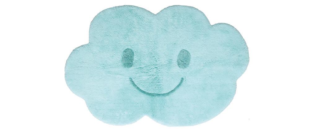 Tappeto infanzia in cotone blu 75x115 cm NIMBUS