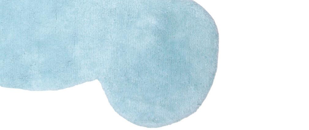 Tappeto infanzia in cotone blu 80x100 cm TEDDY