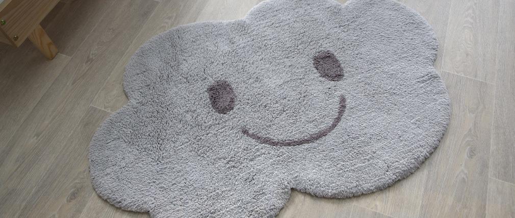 Tappeto infanzia in cotone grigio 75x115 cm NIMBUS
