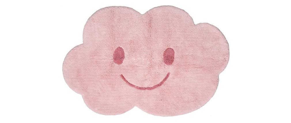 Tappeto infanzia in cotone rosa 75x115 cm NIMBUS