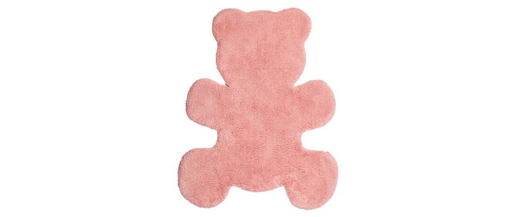 Tappeto infanzia in cotone rosa 80x100 cm TEDDY