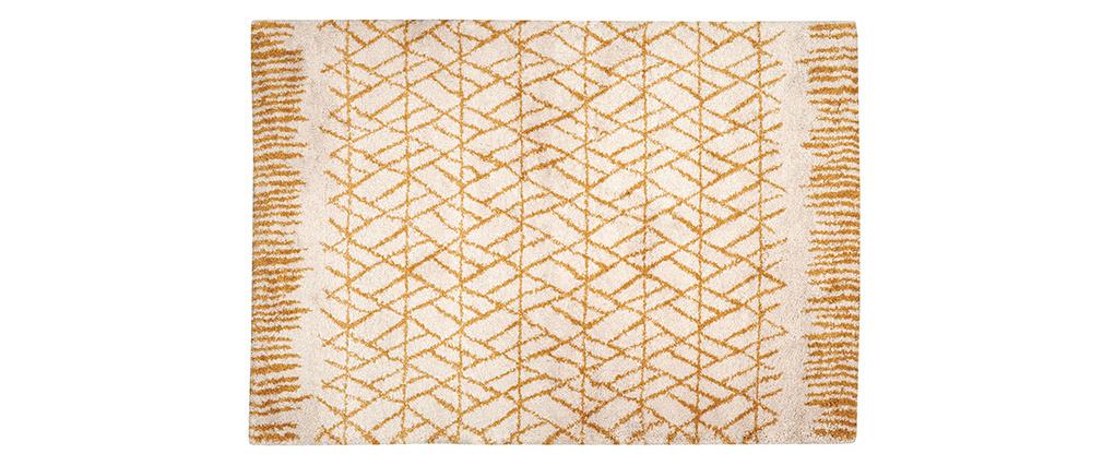 Tappeto moderno beige e giallo 160 x 230 cm PALMERAIE