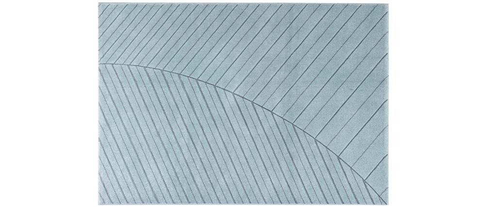 Tappeto moderno blu chiaro 160 x 230 cm PALM