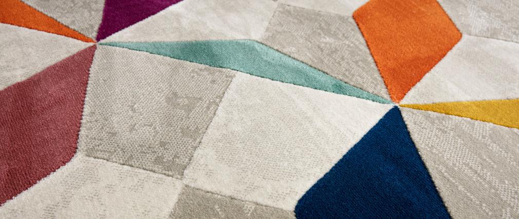 Tappeto multicolore 160 x 230 cm DAUDET