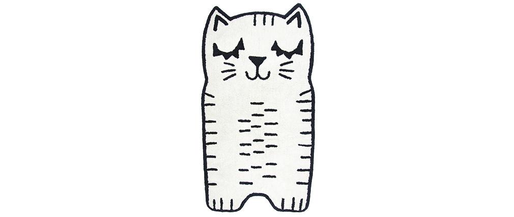 Tappeto per bambini forma di gatto in cotone 80x150 cm CHARLI